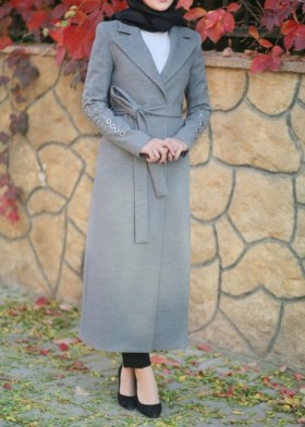Manteau long Carmela gris